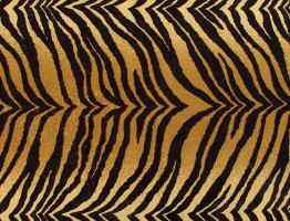 Bengal tiger faux fur fabric