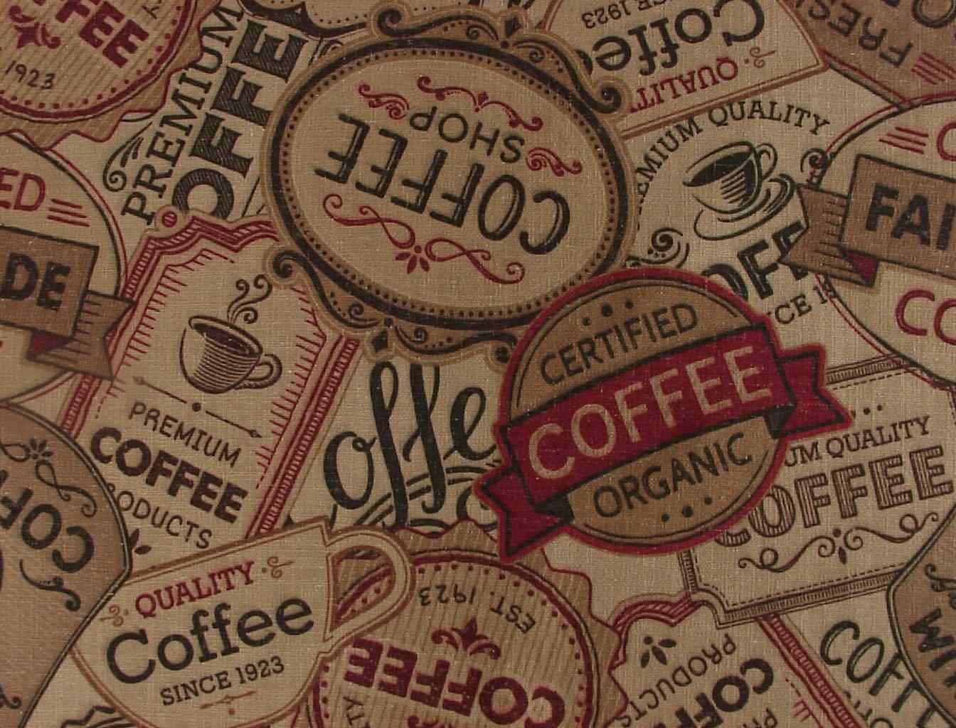 Coffee Fabric, Java Cafe' Theme