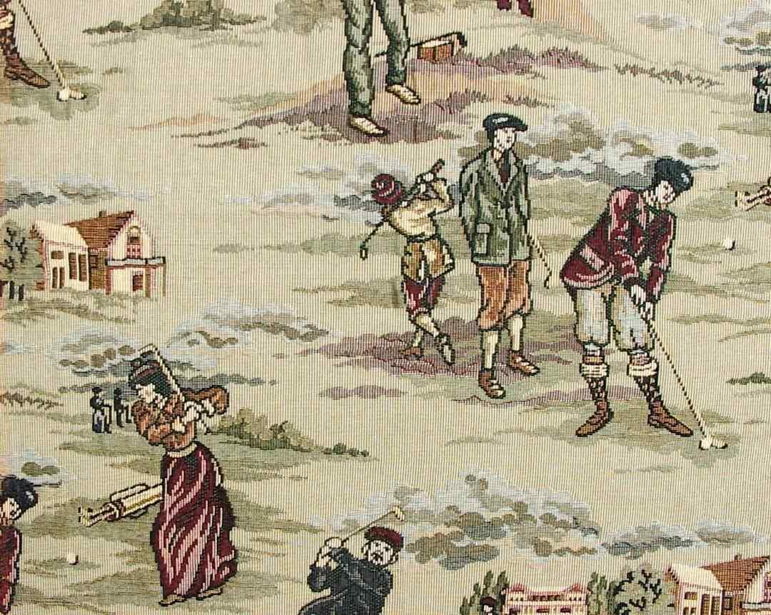 Golf Fabric Classic Victorian Era Woven