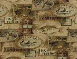 Fishing lodge fabric