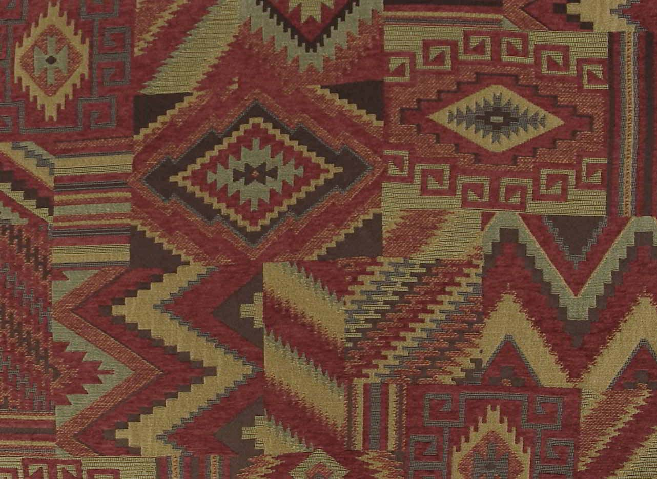 Native American Southwestern Upholstery Fabric Woven