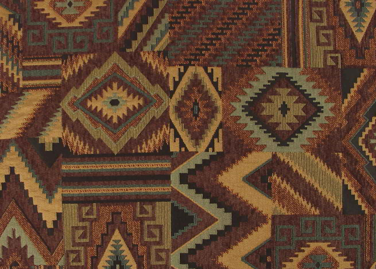 Native American Southwestern Upholstery Fabric Woven Jacquard