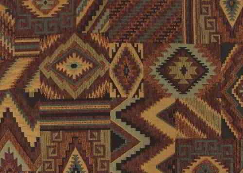 Native American theme Southwestern fabric in brown earth tone shades