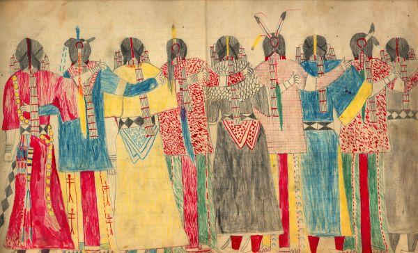 Navajo Southwestern Fabric Native American Blanket