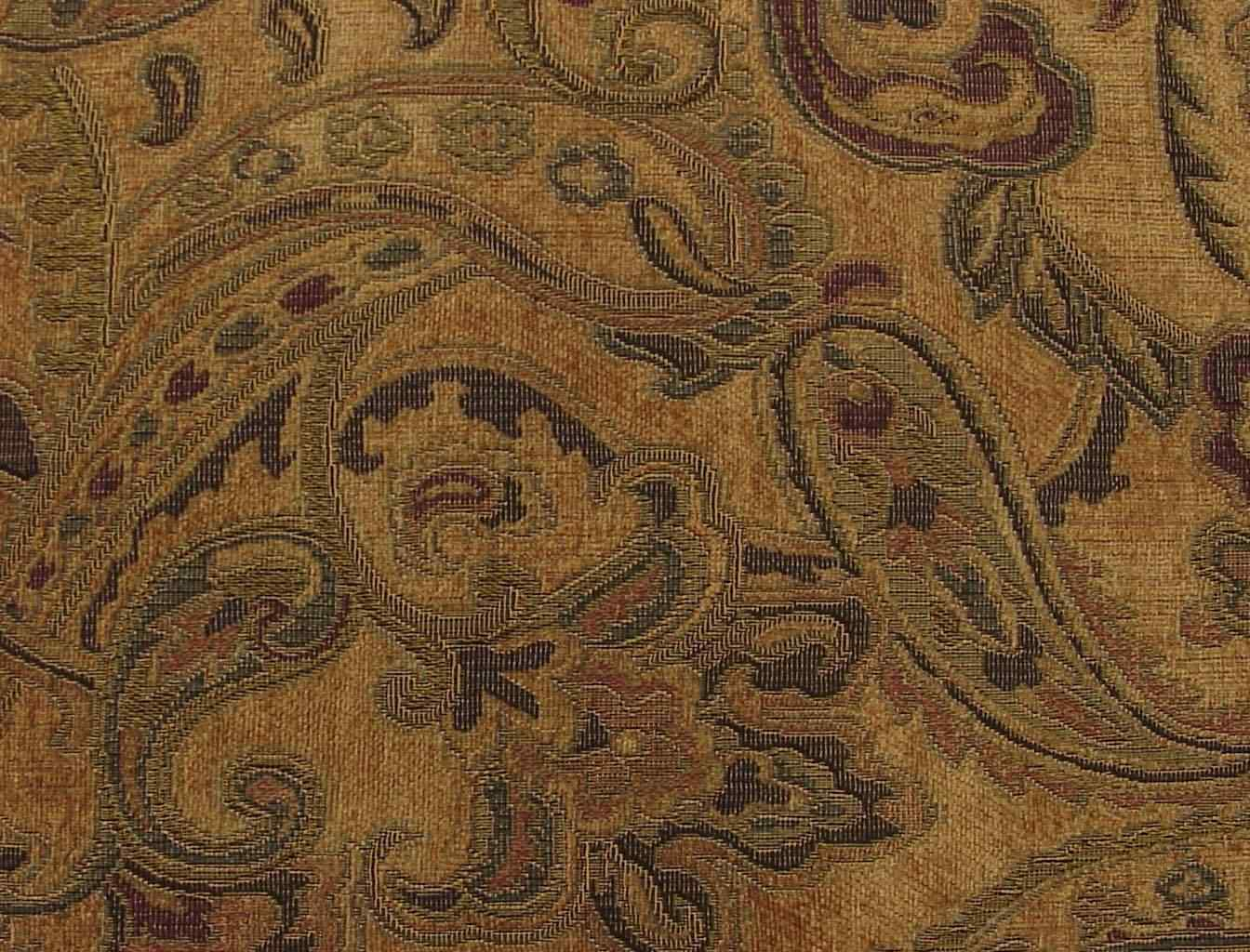 Minky Paisley Print Fabric