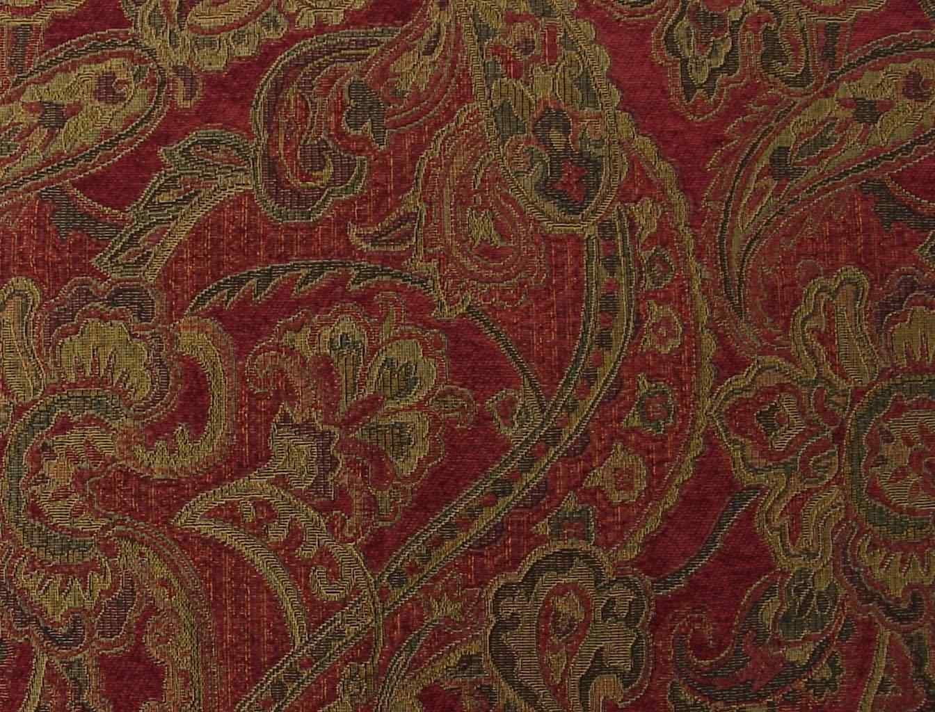 Paisley Uholstery Fabric Woven Synthetic