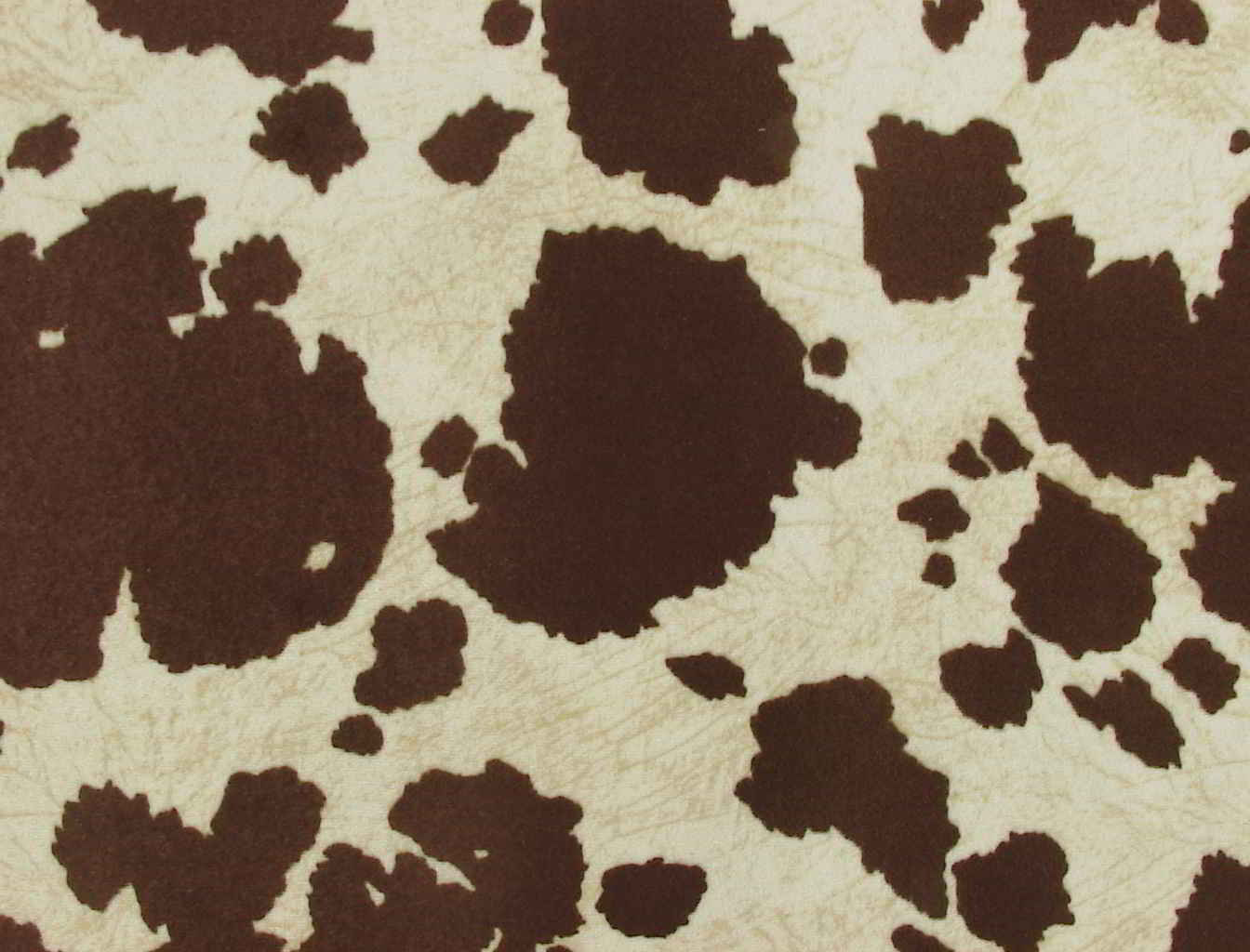 Brown Cow Fabric Faux Hide