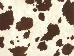 Brown cow hide fabric
