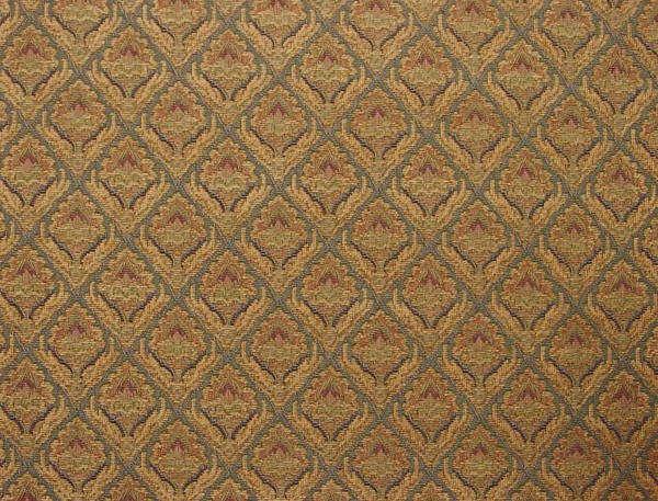Chenille Woven Jacquard Fabric Gold