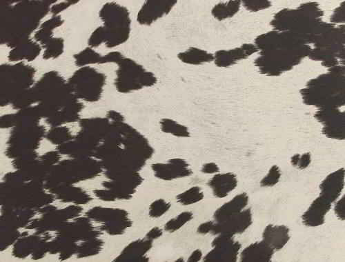 Black and white faux cowhide fabric