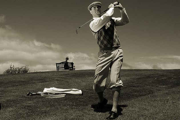 Upholstery Golf Fabric By The Yard Golfing Scene