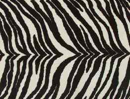 Zebra faux fur fabric
