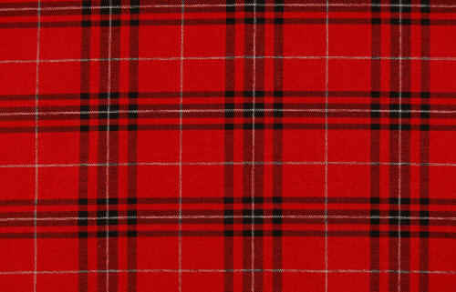 Red plaid upholstery fabric