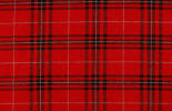 Red plaid fabric swatch for upholstery projects