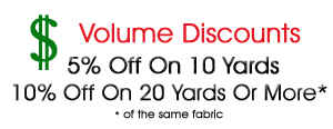 Volume fabric order discounts